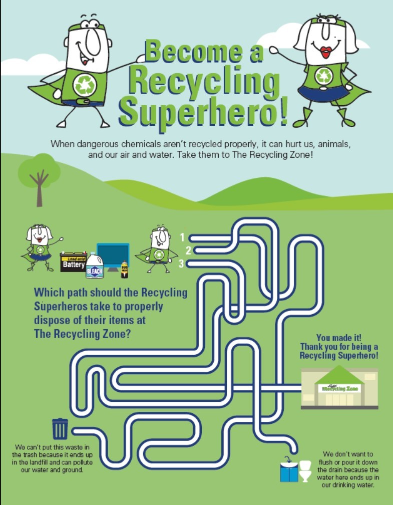 Graphic for Recycling Superhero PDF